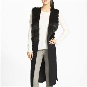 Trouve Long Faux Fur Lined Vest